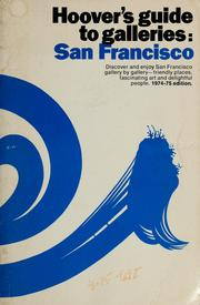 Cover of: Hoover's guide to galleries: San Francisco