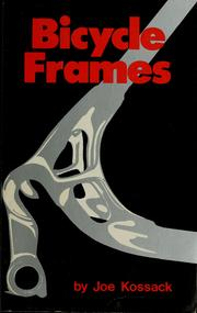 Cover of: Bicycle frames