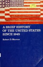 Cover of: A brief history of the United States since 1945