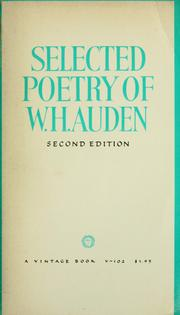 Cover of: Selected poetry of W.H. Auden