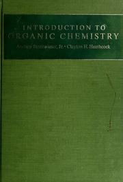 Cover of: Introduction to organic chemistry