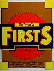 Cover of: Book of firsts