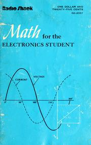 Cover of: Math for the electronics student