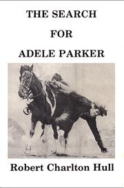 Cover of: The search for Adele Parker