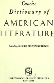 Cover of: Concise dictionary of American literature