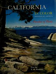 Cover of: California in color