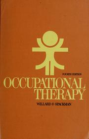 Cover of: Occupational therapy
