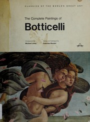 Cover of: The Complete Paintings of Botticelli