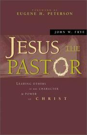 Cover of: Jesus the pastor