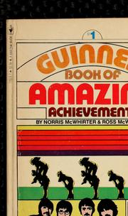Cover of: Guinness book of amazing achievements