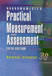 Cover of: Barrow & McGee's practical measurement and assessment