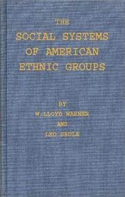 Cover of: The social systems of American ethnic groups