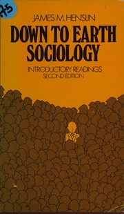 Cover of: Down to Earth Sociology