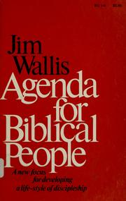 Cover of: Agenda for Biblical people