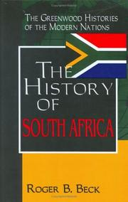Cover of: The history of South Africa