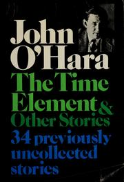 Cover of: The time element, and other stories