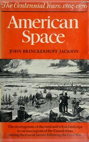 Cover of: American space