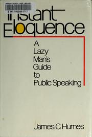 Cover of: Instant eloquence