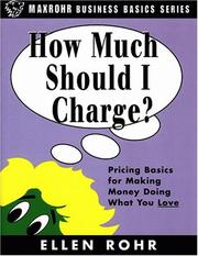Cover of: How much should I charge?