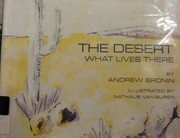 Cover of: The desert: What Lives There