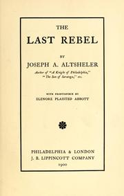 Cover of: The last rebel