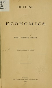 Cover of: Outline of economics