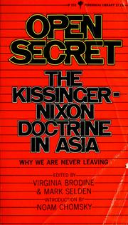 Cover of: Open secret