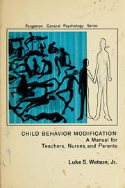 Cover of: Child behavior modification
