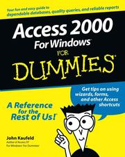 Cover of: Access 2000 for Windows for dummies