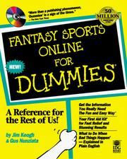 Cover of: Fantasy sports online for dummies