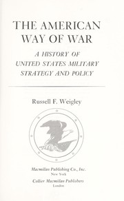 Cover of: The American way of war