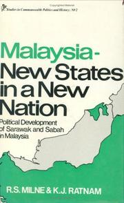 Cover of: Malaysia--new states in a new nation