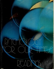 Cover of: Psychology for our times