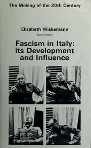 Cover of: Fascism in Italy: its development and influence