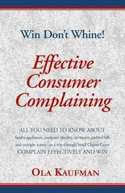 Cover of: Effective consumer complaining