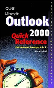 Cover of: Microsoft Outlook 2000 quick reference