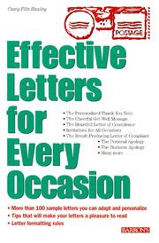 Cover of: Effective letters for every occasion