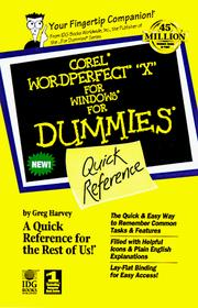 Cover of: WordPerfect 9 for Windows for dummies