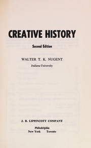 Cover of: Creative history