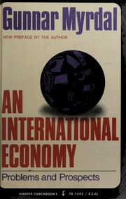 Cover of: An international economy