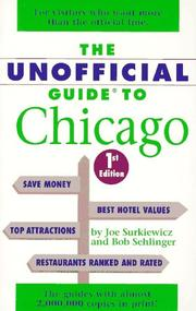 Cover of: The unofficial guide to Chicago