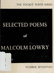 Cover of: Selected Poems of Malcolm Lowry
