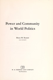Cover of: Power and community in world politics