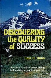 Cover of: Discovering the quality of success