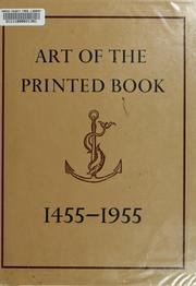 Cover of: Art of the printed book, 1455-1955