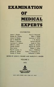 Cover of: Examination of medical experts