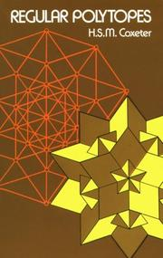 Cover of: Regular polytopes