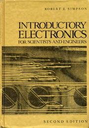Cover of: Introductory electronics for scientists and engineers