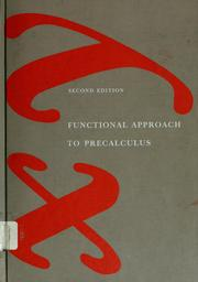 Cover of: Functional approach to precalculus