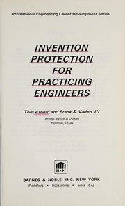 Cover of: Invention protection for practicing engineers